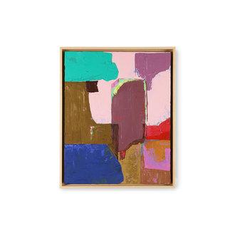 HKliving Abstract schilderij multicolour 40x50cm