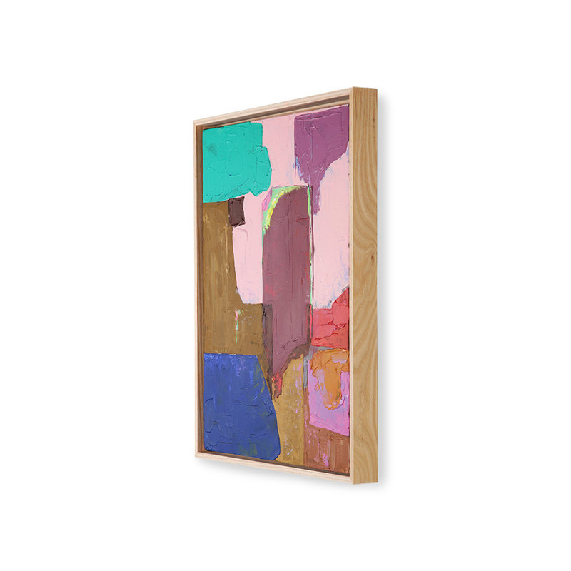 HKliving-collectie abstract painting multicolour 40x50cm