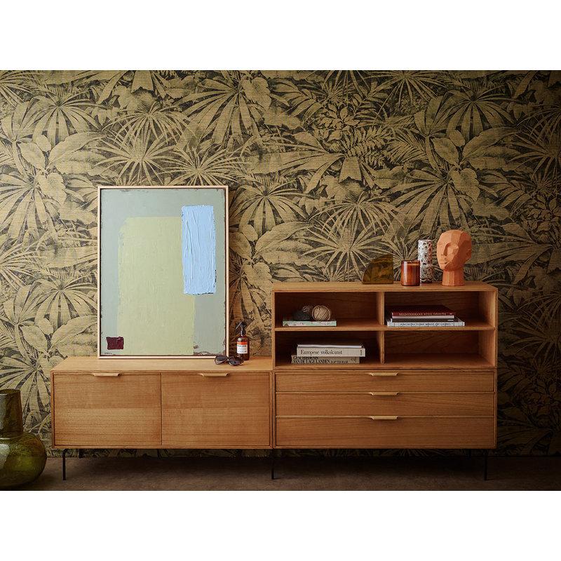 HKliving-collectie Abstract schilderij pistachio/blue 60x80cm