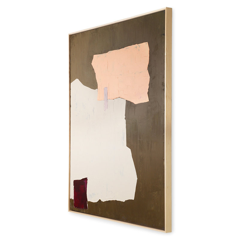 HKliving-collectie abstract painting mustard/nude 100x120cm