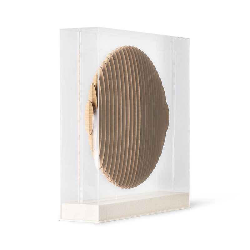 HKliving-collectie Houten cirkel art frame