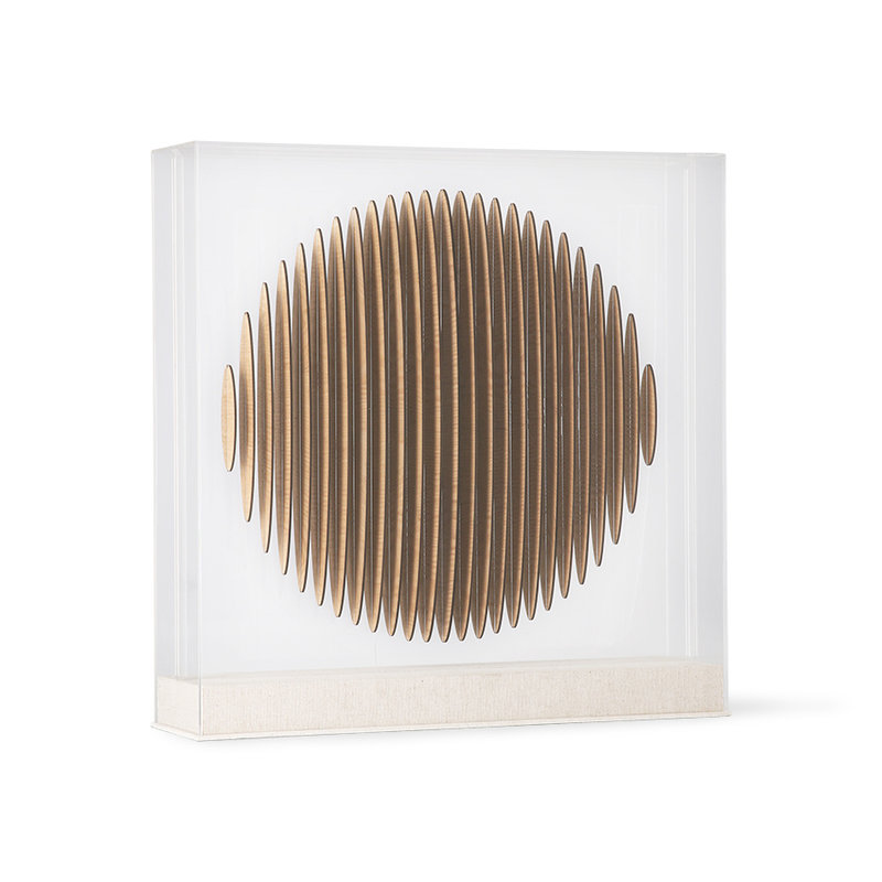 HKliving-collectie wooden circle art frame
