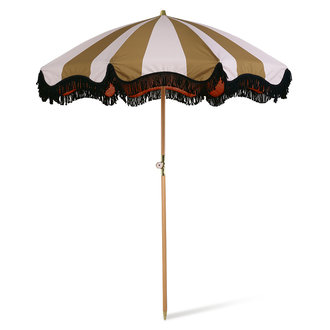 HKliving Strand parasol classic nude/mosterd