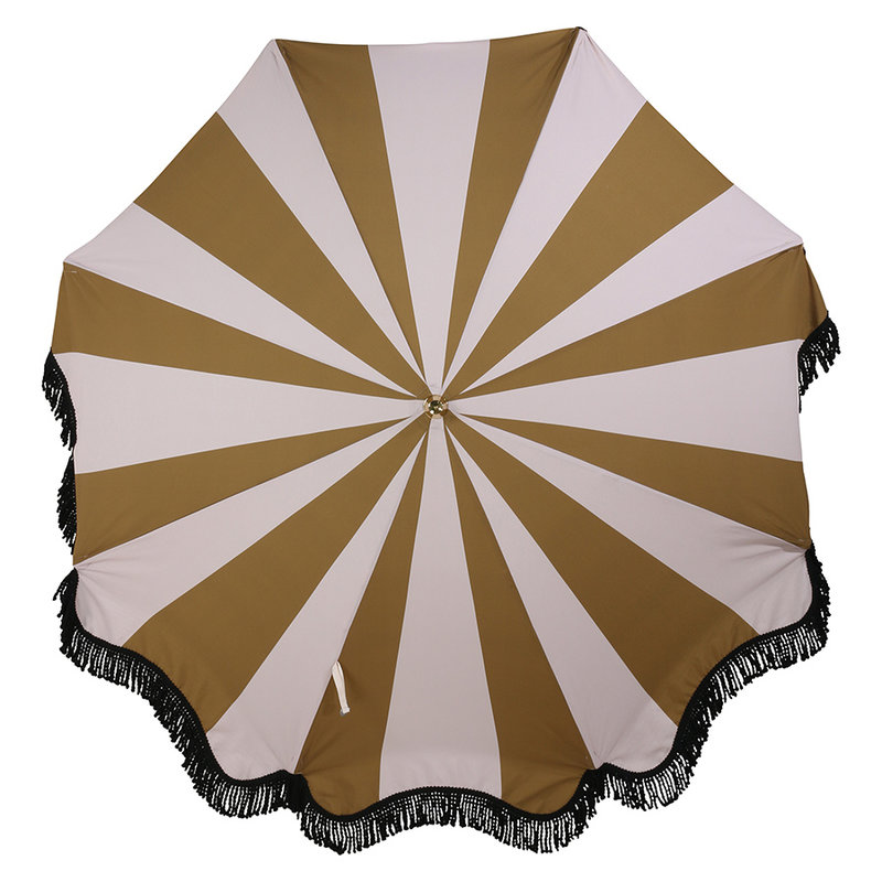 HKliving-collectie beach umbrella classic nude/mustard
