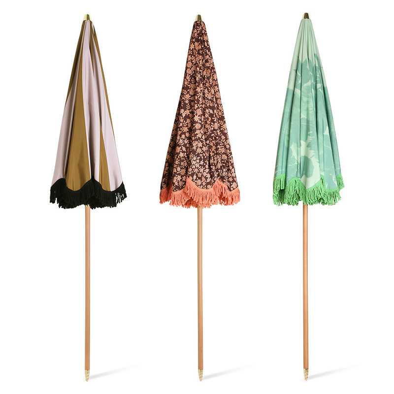 HKliving-collectie Strand parasol classic nude/mosterd