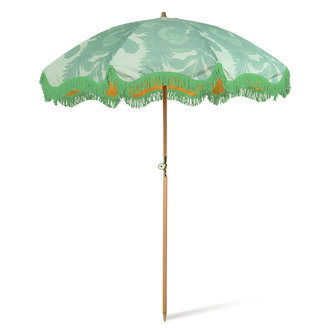 HKliving beach umbrella floral pistachio