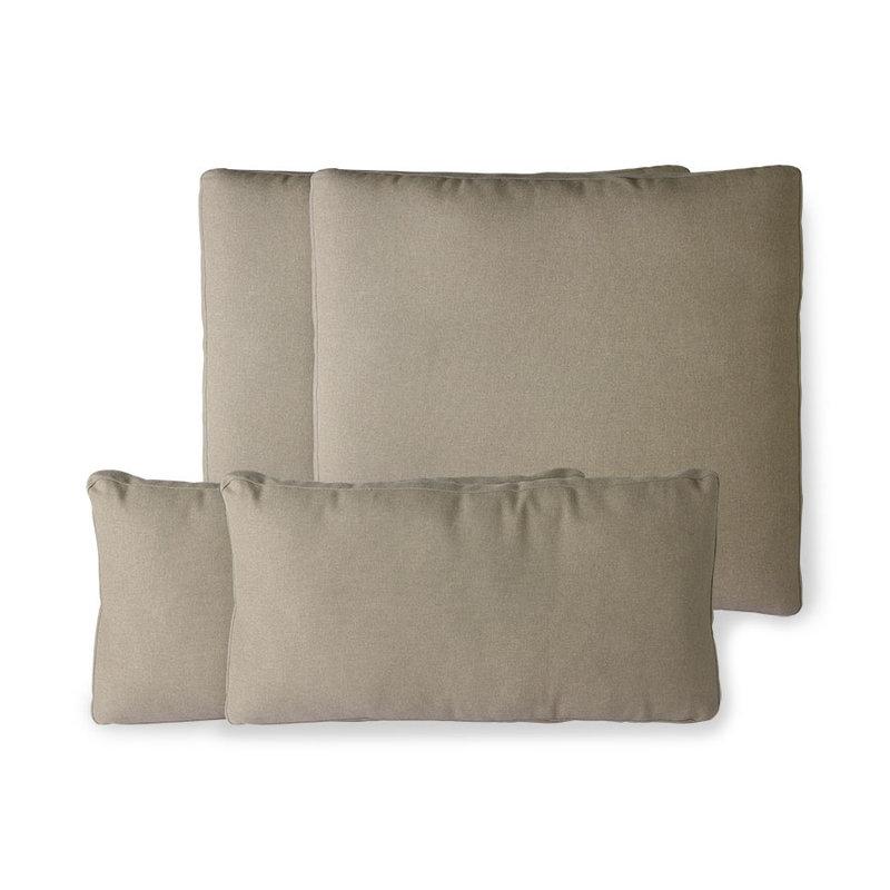 HKliving-collectie Outdoor lounge sofa kussenset bruin