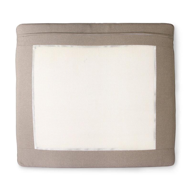 HKliving-collectie Outdoor lounge sofa kussenset bruin (UKFR)