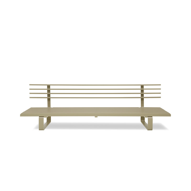 HKliving-collectie aluminium outdoor lounge sofa olive