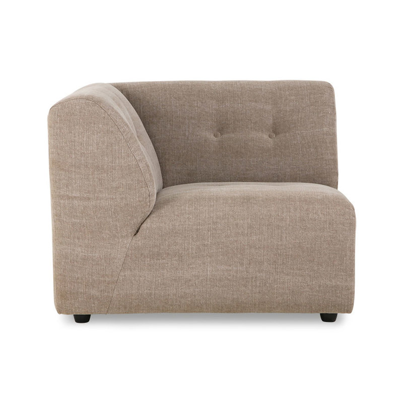 HKliving-collectie vint couch: element left, linen blend, taupe