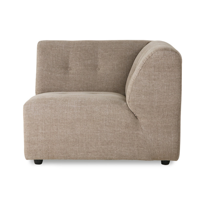 HKliving-collectie vint couch: element right, linen blend, taupe