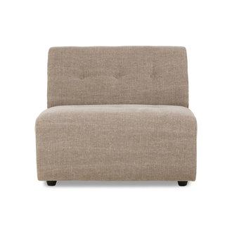 HKliving vint couch: element middle, linen blend, taupe
