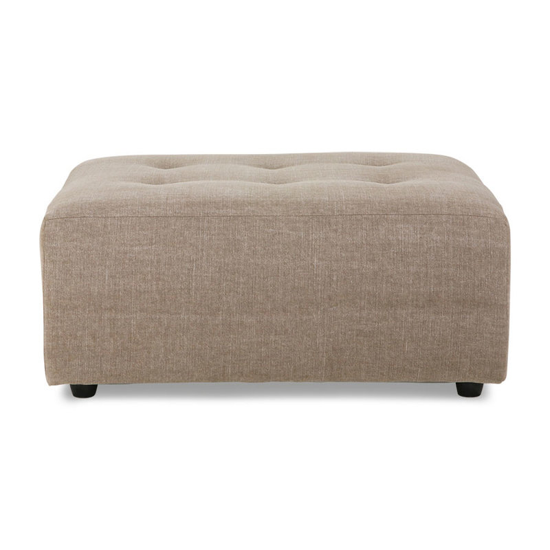 HKliving-collectie Vint bank hocker linen blend taupe