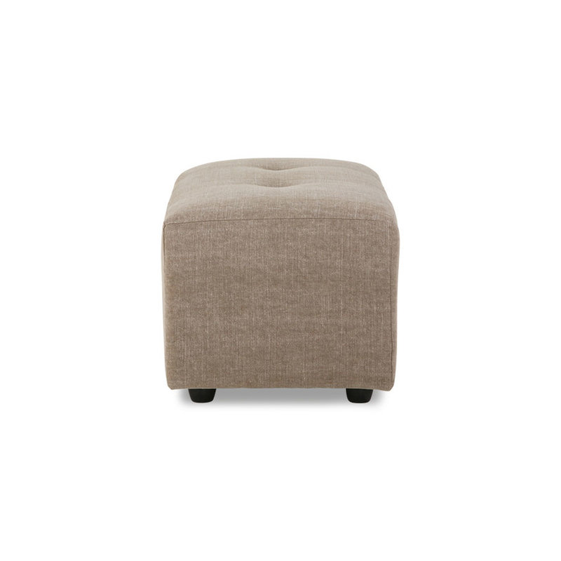 HKliving-collectie Vint bank hocker small linen blend taupe