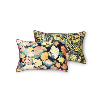 HKliving DORIS for HKLIVING: printed satin cushion retro (25x40)