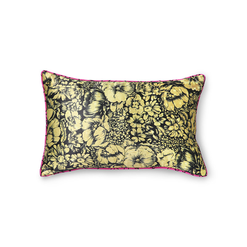 HKliving-collectie DORIS for HKLIVING: printed satin cushion retro (25x40)