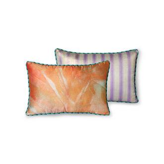 HKliving DORIS for HKLIVING: printed satin cushion glitter (25x40)