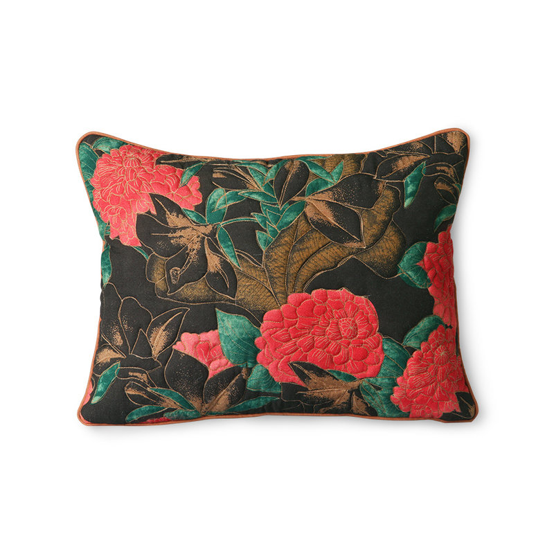 HKliving-collectie DORIS for HKLIVING: stitched cushion floral (30x40)