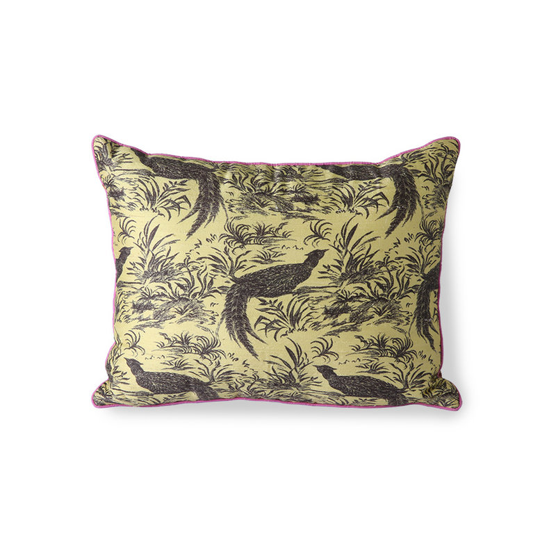 HKliving-collectie DORIS for HKLIVING: printed silk cushion jungle (30x40)