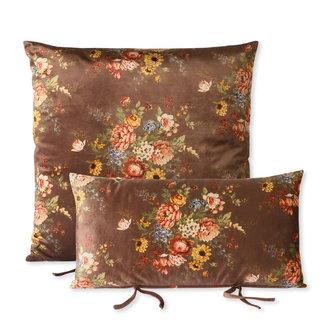 HKliving lounge sofa cushion set printed velvet