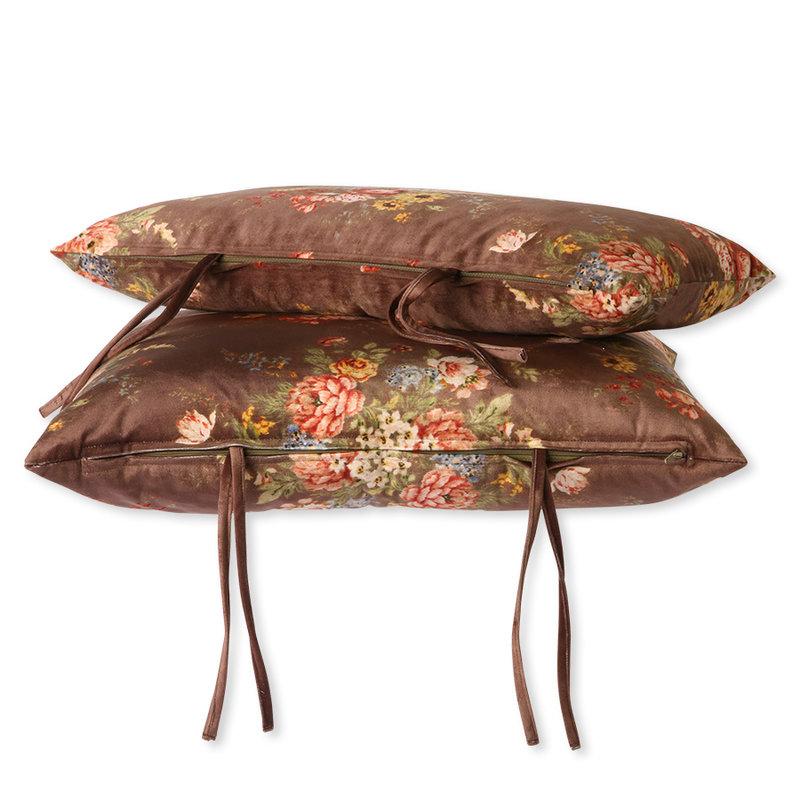 HKliving-collectie Lounge sofa kussenset geprint velvet