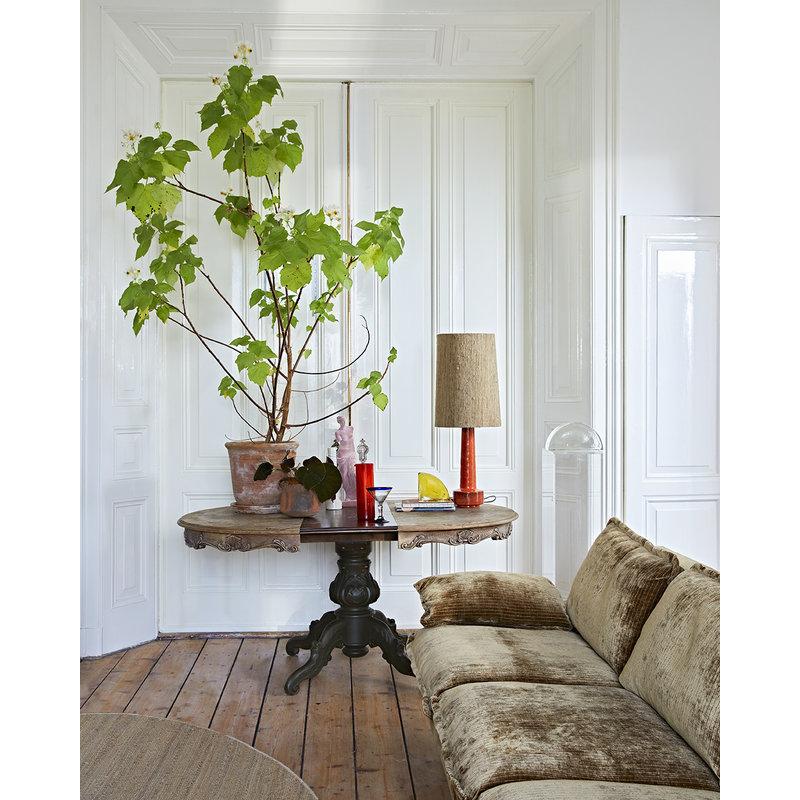 HKliving-collectie round woven hemp rug (ø: 250cm)