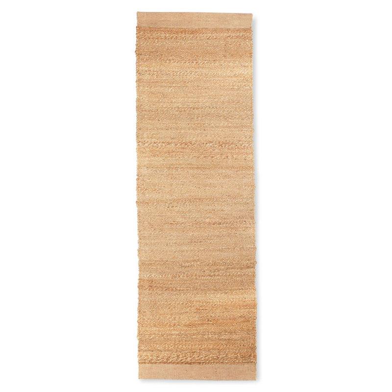HKliving-collectie woven hemp runner (60x200)