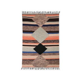 HKliving Handgeweven indoor/outdoor vloerkleed multicolour (120x180)