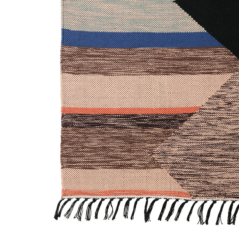 HKliving-collectie hand woven indoor/outdoor rug multicolour (120x180)