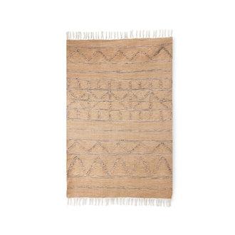 HKliving Handgeweven indoor/outdoor vloerkleed naturel (120x180)
