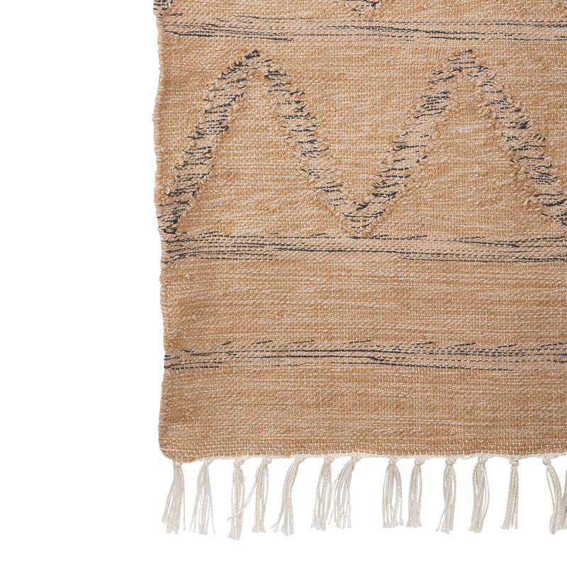 HKliving-collectie hand woven indoor/outdoor rug natural (120x180)