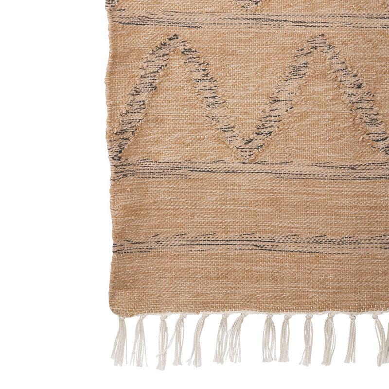 HKliving-collectie Handgeweven indoor/outdoor vloerkleed naturel (120x180)