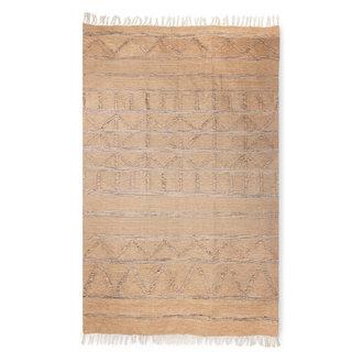 HKliving Handgeweven indoor/outdoor vloerkleed naturel (150x240)