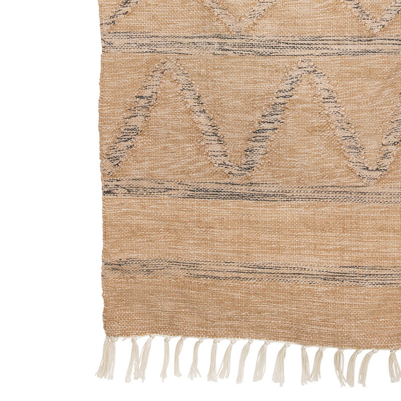HKliving-collectie hand woven indoor/outdoor rug natural (150x240)
