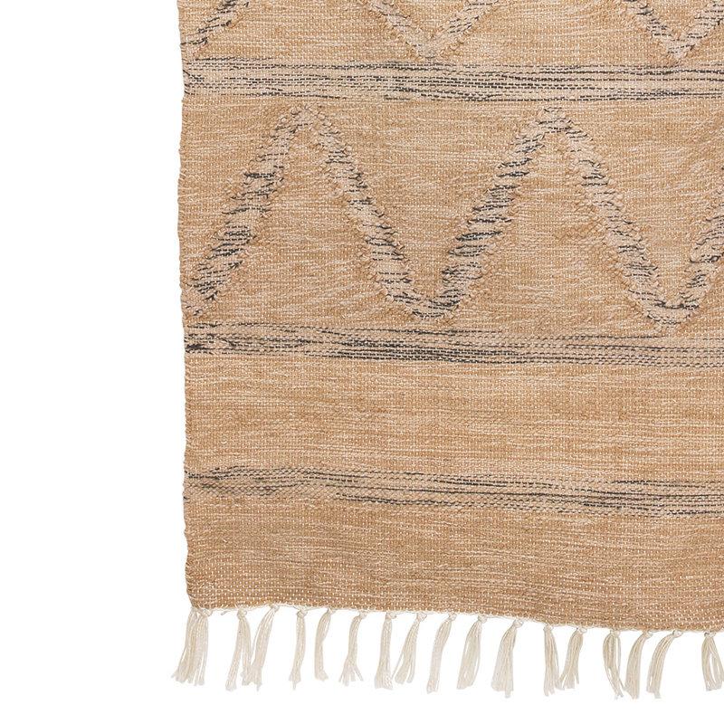 HKliving-collectie Handgeweven indoor/outdoor vloerkleed naturel (150x240)