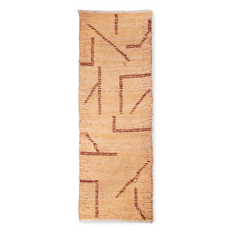 HKliving Handgeweven katoenen loper perzik/mokka (70x200)
