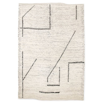 HKliving hand woven cotton rug cream/charcoal (200x300)