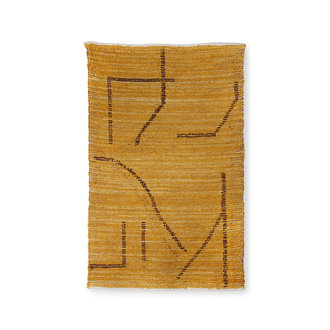 HKliving Handgeweven katoenen vloerkleed oker/bruin(120x180)