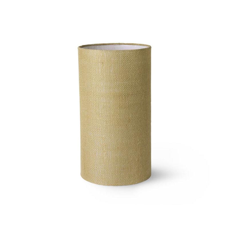 HKliving-collectie Jute cylinder lampenkap jade groen