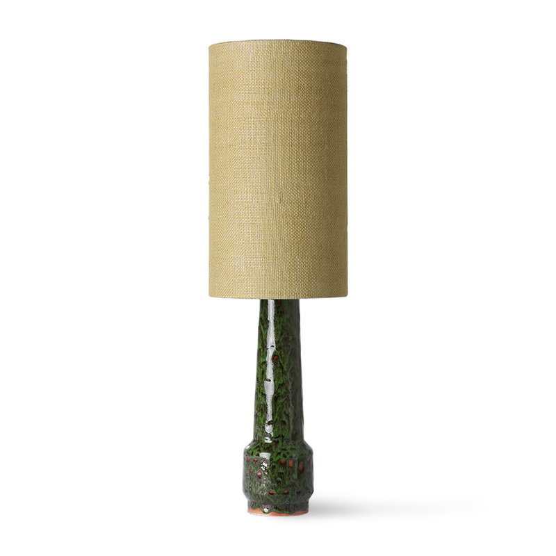 HKliving-collectie jute cylinder lamp shade jade green