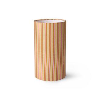 HKliving DORIS for HKLIVING: printed cylinder lamp shade stripes