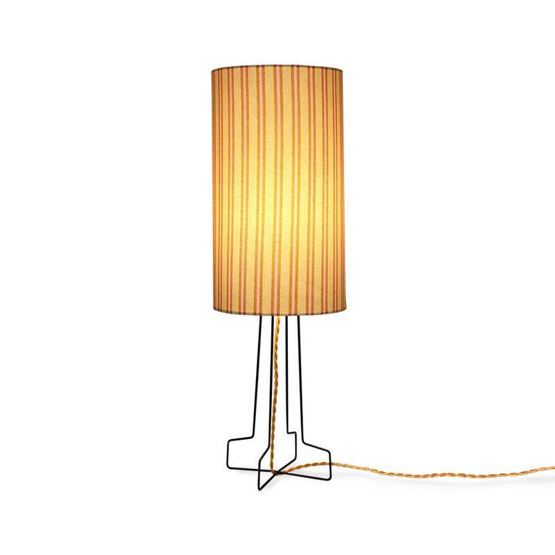 HKliving-collectie DORIS for HKLIVING: printed cylinder lamp shade stripes