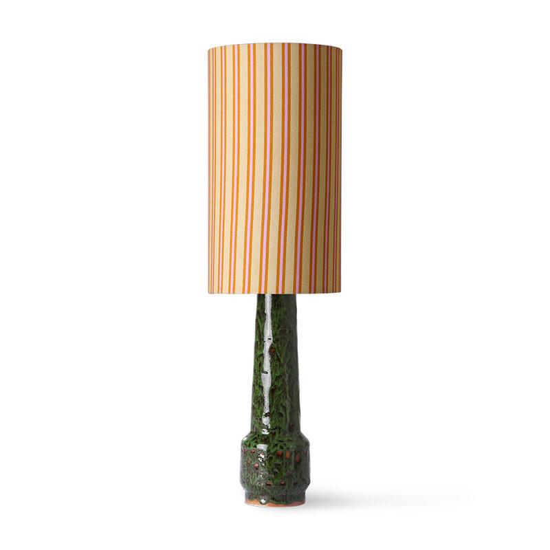 HKliving-collectie DORIS for HKLIVING: geprinte cylinder lampenkap strepen
