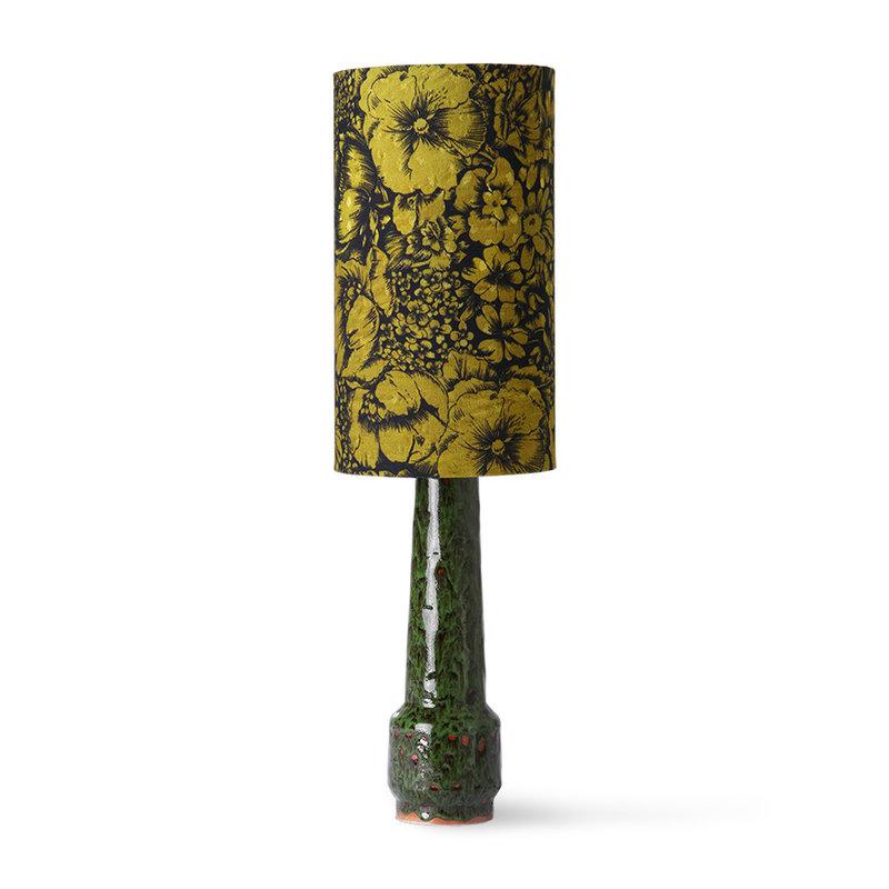 HKliving-collectie DORIS for HKLIVING: printed cylinder lamp shade floral
