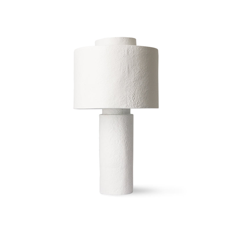 HKliving-collectie Gesso tafellamp matwit