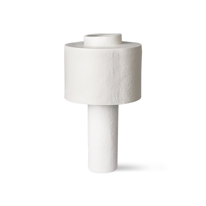 HKliving-collectie gesso table lamp matt white