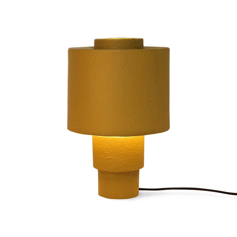 HKliving-collectie gesso table lamp matt mustard