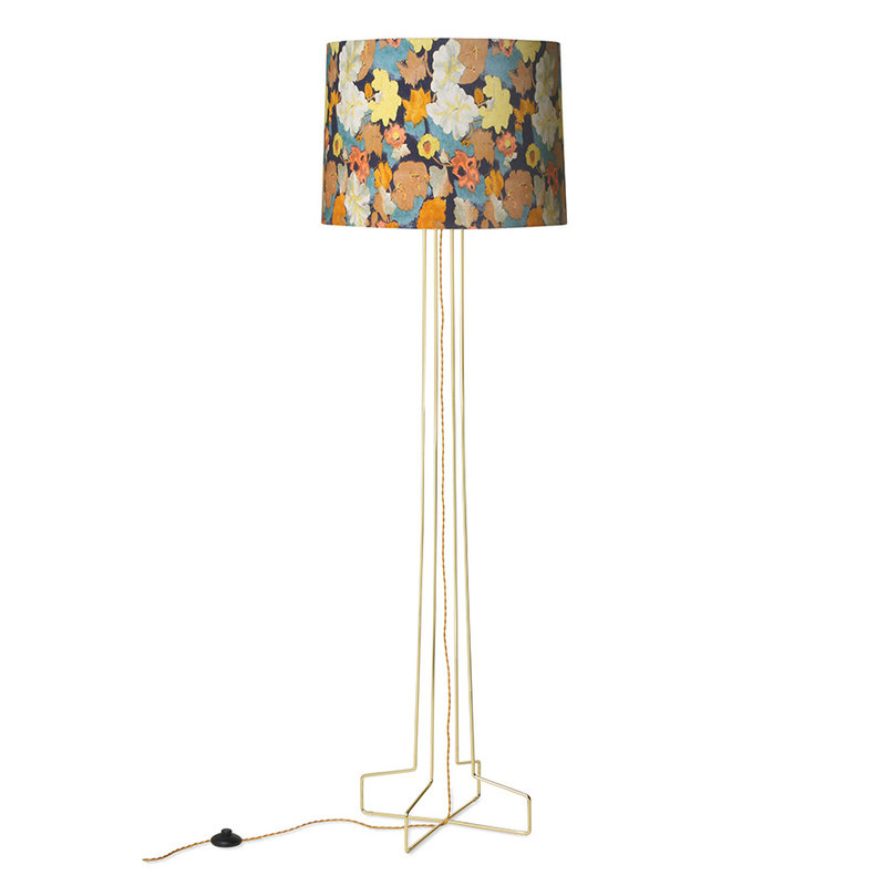 HKliving-collectie DORIS for HKLIVING: Metaal draadwerk vloerlamp brass