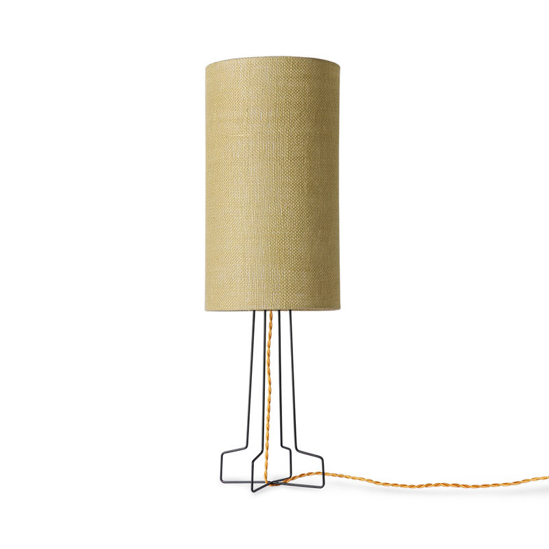 HKliving-collectie metal wire lamp base black
