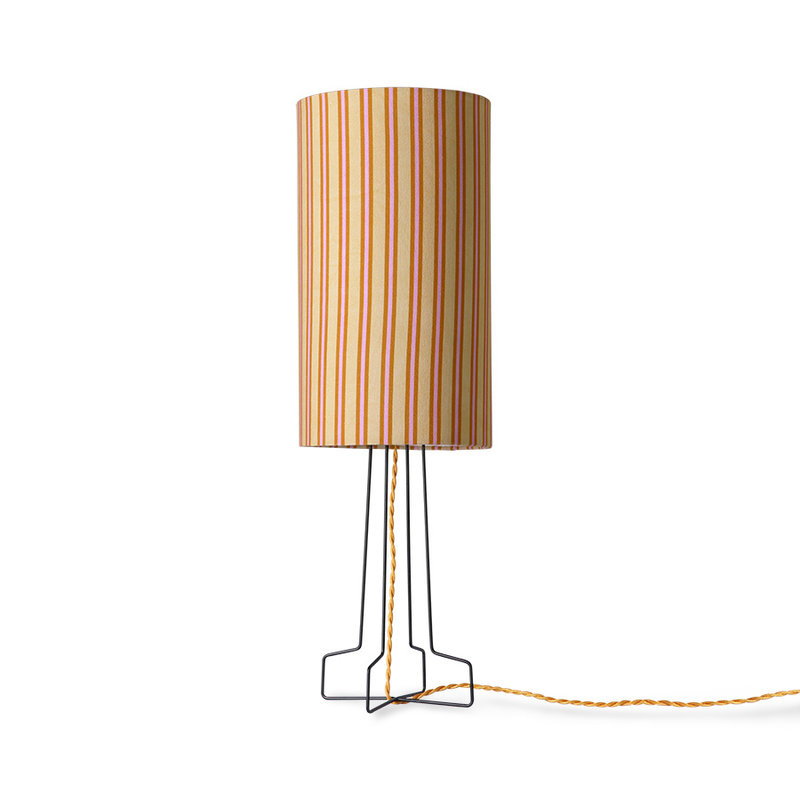 HKliving-collectie Zwart metalen draadwerk lampvoet